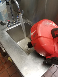 Commercial Sink Clog Removal