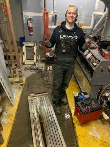 Pete smiling as BC and Alberta plumbers collide